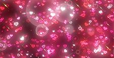 キラキラパーティクルと玉ブラシ