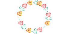 バラの花の輪