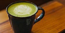 hot matcha green tea latte