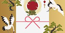 鶴と亀の縁起の良い素材。和柄。鶴亀と松の素材集。