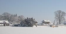 설경 눈 겨울 교외 시골 설원 강설 기후 기상 하늘 추운