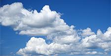 青空と雲のタイムラプス動画