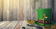 St. Patrick's Day Leprechaun Hat with Gold Coins