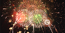 Fireworks image Multiple Star Mine continuous fireworks (synthetic)