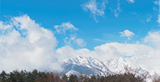 Nagano Prefecture Hakuba Village Snow Mountain and Clouds Time-lapse: Tilt, Pan