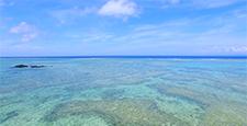 沖縄空撮 伊是名島の海岸