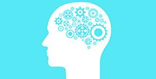 Brain creating new ideas gears spinning animation.