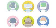 フラットアイコン_ロボット