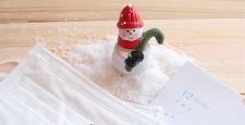 圣诞老人和防寒面具,温度计
