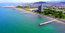 Misaki Park front coastline (aerial view)