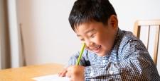 Boys studying homework