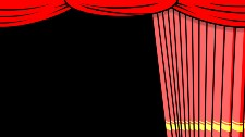 Red curtain (curtain) [Movement] Close from right to left [Background color] Alpha (transparent) [Effect] None