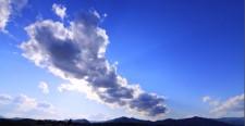タイムラプス 青空と雲 太陽 動き