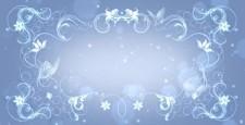 閃光框架標題背面粒子藍灰色