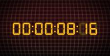 デジタルカウントアップする時計 秒 タイム タイムコード
