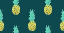 Seamless pattern with pineapples Trendy summer design