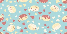 Cute seamless pattern with fruits. Beautiful textile or paper print. Vector illustration.