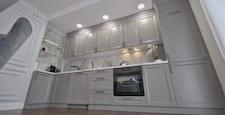 Grey and white luxury kitchen in modern style